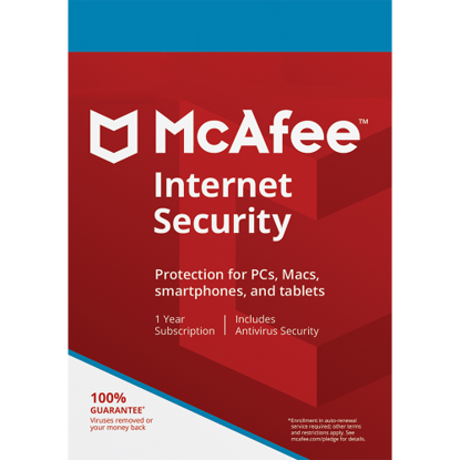 Picture of McAfee Internet Security - 1-Year / 1-Device - Global
