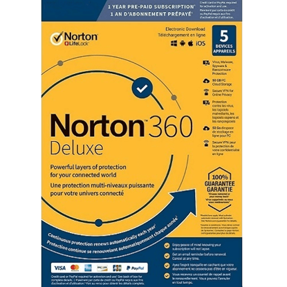 Picture of Norton 360 Deluxe - 1-Year / 5-Device - United States & Canada